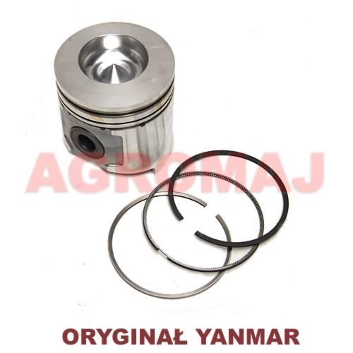 YANMAR Tłok kompletny z pierścieniami 4TNE106, 123900-22080, 12390022080